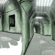 Concept Art des Tunnelgangs